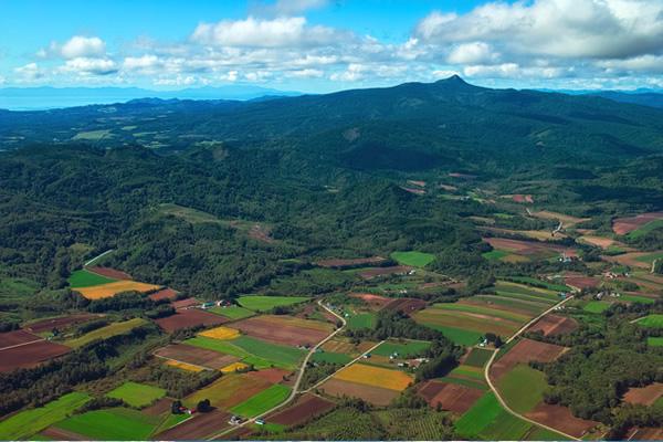 田園風景の写真素材