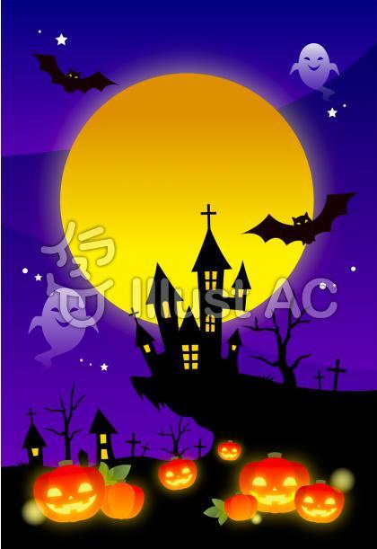 ハロウィンの夜イラスト背景