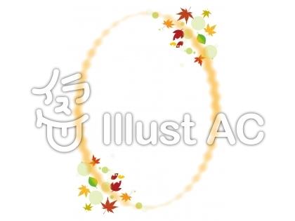オーバル型(楕円形)の秋フレーム飾り