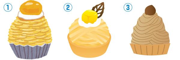 モンブランケーキの無料イラスト