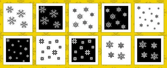 雪の結晶のテクスチャ素材
