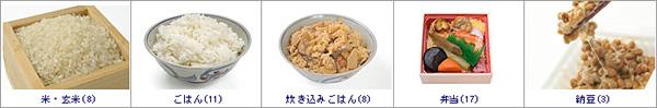 穀物類(米/玄米/納豆)の写真素材