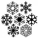 雪の結晶のシルエットイラスト無料フリーフォント『WW Flakes』