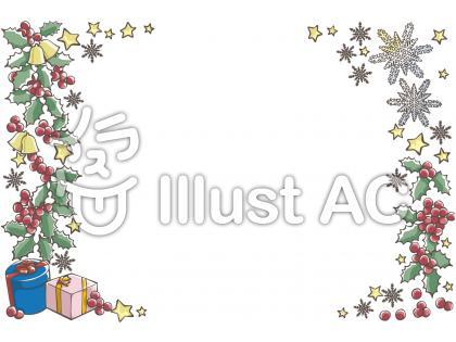 アニメイラスト風の手書きクリスマスフレーム飾り枠