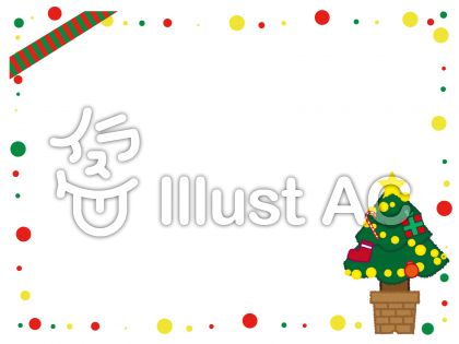 ドットの飾り枠がポップなクリスマスフレーム