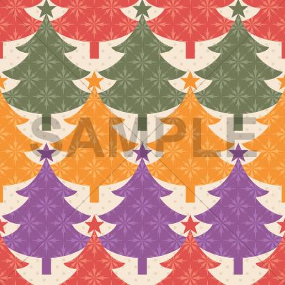 カラフルなクリスマスツリーのテクスチャーパターン背景