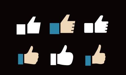 かわいい形のFacebookアイコンイラスト
