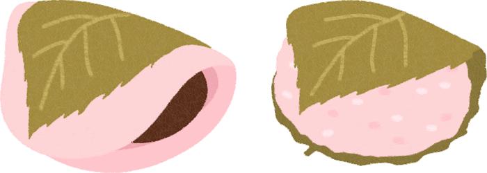 桜餅のイラスト
