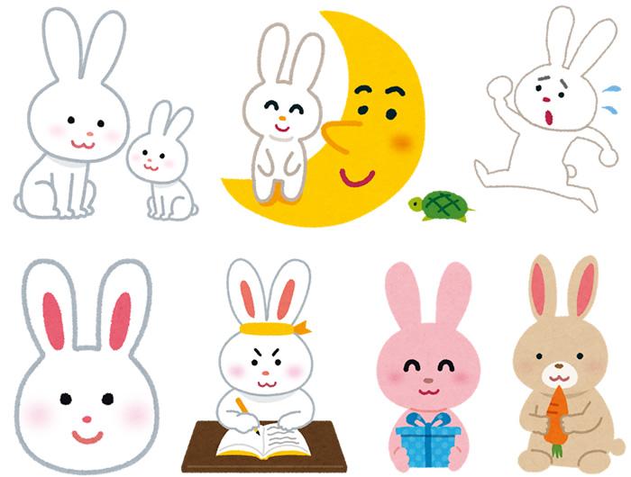 かわいいウサギの無料イラスト素材