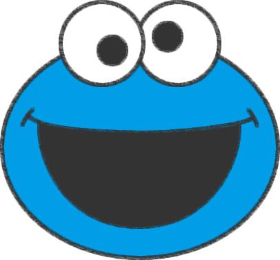 色を塗ったクッキーモンスター