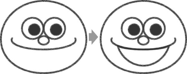 モッピーの口の描き方