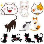 かわいい猫のイラスト無料フリー素材