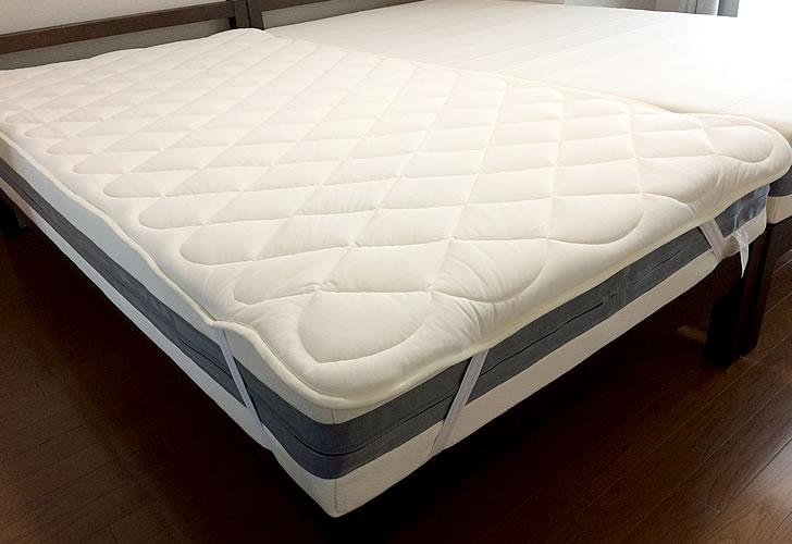 エアウィーヴ ベッドマットレス スマートにベッドパッドをかぶせたところ