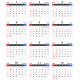 2018年(平成30年)エクセル年間カレンダー