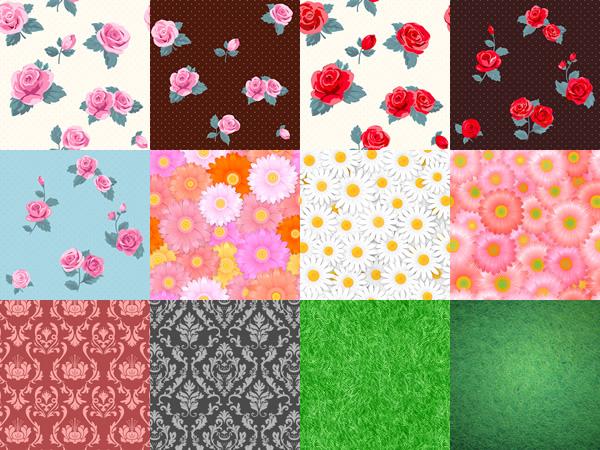 様々な植物系背景パターン