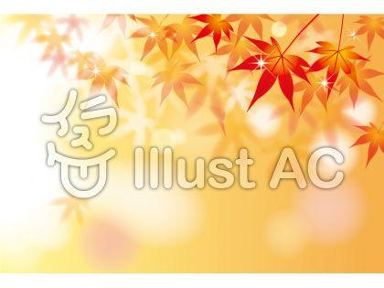 秋の紅葉イラスト背景 フレーム飾り枠無料ベクターai Eps素材