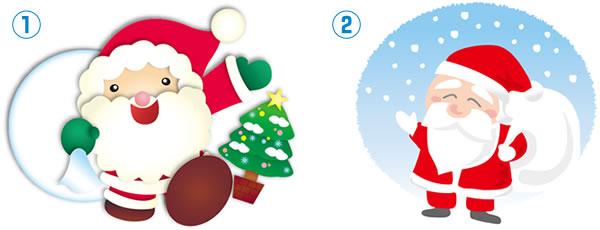 クリスマスサンタクローストナカイツリーリースケーキプレゼント