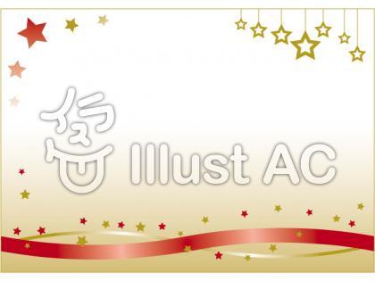 星のオーナメントで飾られたゴールドのクリスマス背景