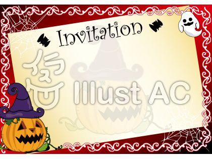 ハロウィンの招待状デザインテンプレート