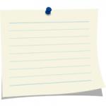 メモ用紙/ノート/便箋/封筒/バインダー/付箋の無料フリーイラスト素材