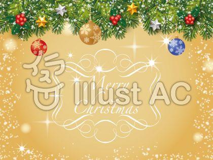 クリスマスの飾り枠フレーム背景フリーイラスト無料ベクターai素材