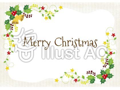 ガーリーなデザインが可愛いクリスマスのメッセージカード