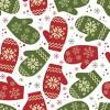 [12月/冬に使えるフリー素材]シームレスなクリスマスのテクスチャー背景パターン無料イラスト