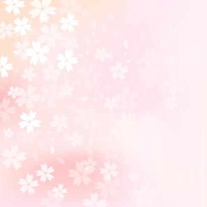 淡い色がナチュラルでかわいい桜吹雪の背景イラスト無料ベクター素材