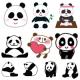 パンダのイラスト(かわいいパンダの絵)無料フリー素材