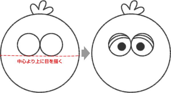 ビッグバードの目を描く