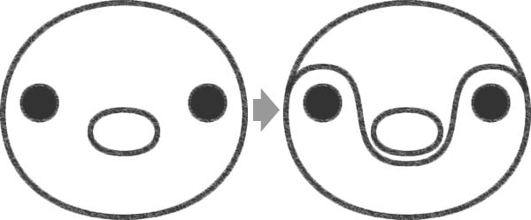 ピンガの目の描き方