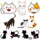 無料で使えるかわいい猫のイラスト素材