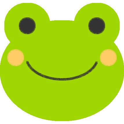 色を塗ったカエルのイラスト