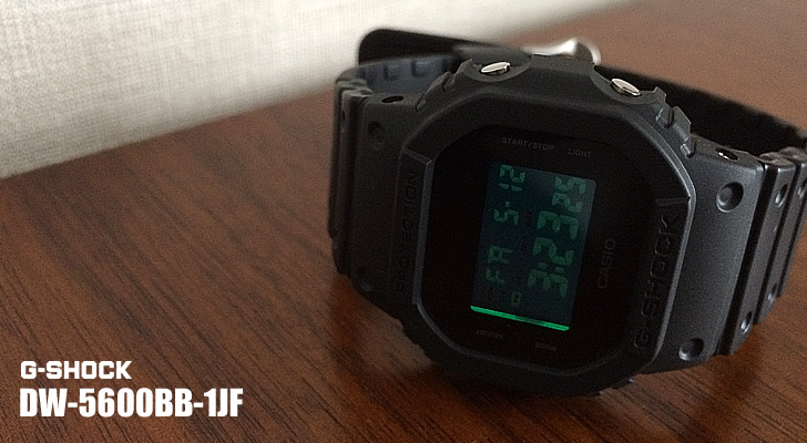 G-SHOCK「DW-5600BB-1JF」Solid Colors