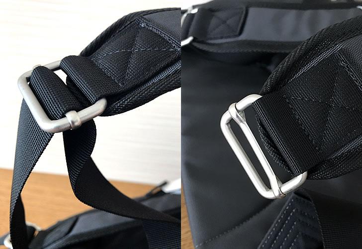 マリメッコリュックBUDDYのベルト調整金具